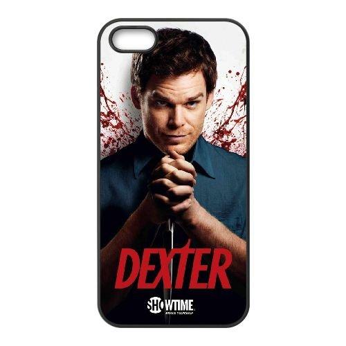 Dexter Blood 003 coque iPhone 4 4S cellulaire cas coque de téléphone cas téléphone cellulaire noir couvercle EEEXLKNBC24563