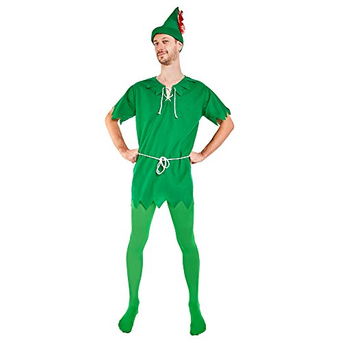 Peter Pan Adult Unisex Costume (Large 42-44) (Peter Pan Costume Men)