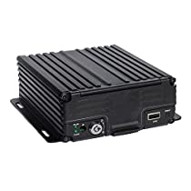 TrackSec 4 Channel AHD 720P H.264 HDD Vehicle Mobile DVR Security Surveillance Camera System, Black (T17-C031)