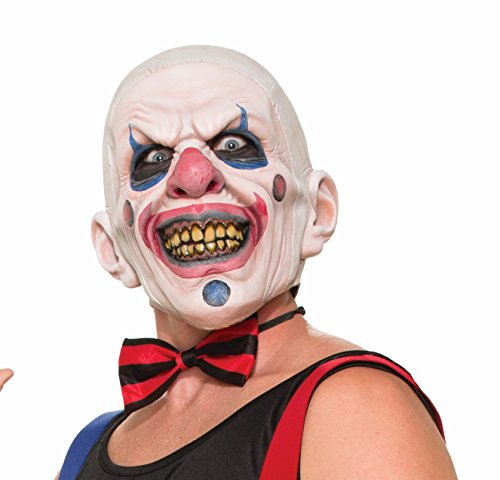 Forum Novelties Men's Twisted Clown Latex Mask, Multi, One Size -