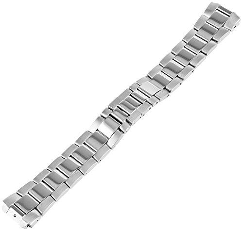 Philip Stein 2-SS 20mm Stainless Steel Silver-Tone Watch Bracelet - Interchangeable Strap