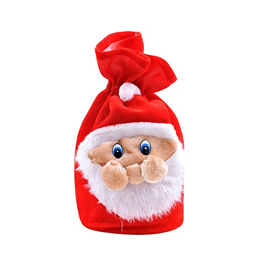 Santa Sack Velvet Christmas Gift Bag with Cord Drawstring