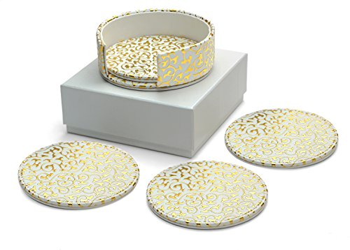 diamondspun-absorbent-coasters-with-holder-and-foam-padded-storage-box-white