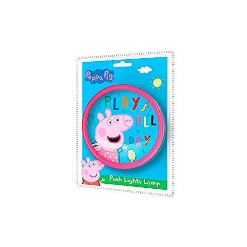 PEPPA PIG pulsador Lamparas Hogar UNISEX INFANTIL, Multicolor ...