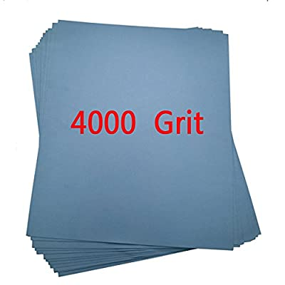 Pack of 5 High Precision Polishing Sanding Wet/dry Abrasive Sandpaper Sheets -Grit 4000