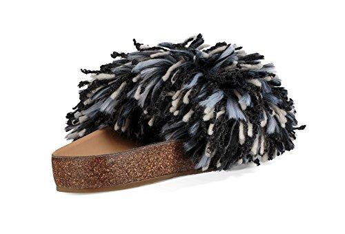 Sul Donna Aperte Australia Ugg Black white Retro Cindy Pantofole wSC7qv