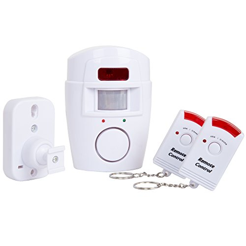 Everyday Home 82-2355 Wireless Motion Sensor Alarm with Two Wireless Remotes