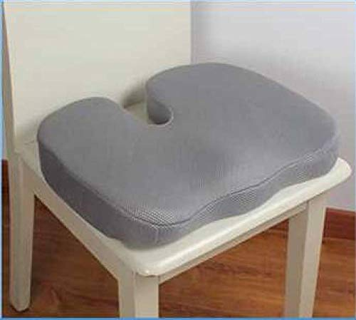 Thicken Memory Foam High Density Health Cushion Office Comfort Coccyx Orthopedic Seat Pads for Garden Desk Chair ()