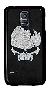 Samsung Galaxy S5 Cases & Covers - Cracked Skull PC Custom Soft Case Cover Protector for Samsung Galaxy S5 - Black