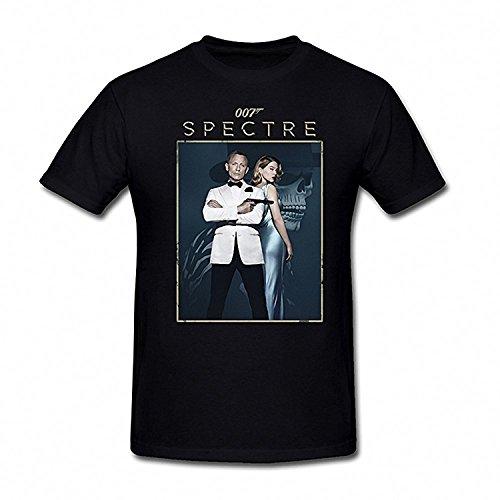 Drong Men's Spectre 007 Lucia Sciarra & James Bond T-Shirt M Black