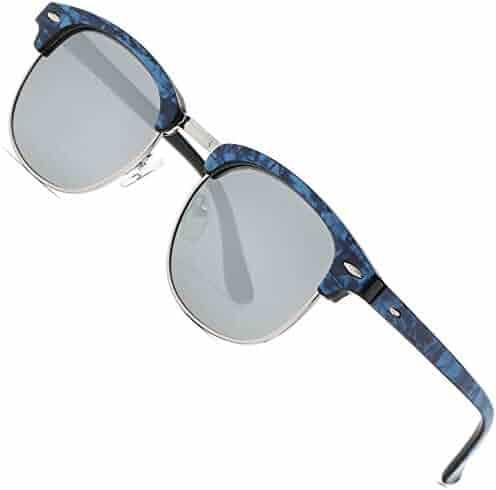 1634dcd1a83c FEIDU Retro Polarized Mens Sunglasses for Men Half Metal Women FD3030