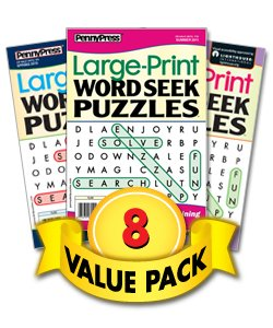 Large Print Word Seek Puzzles-8 Pack (Word Search Puzzles Magazine)