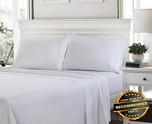 Sandover 1800 Count Egyptian Comfort Extra Soft Bed Sheet Set Deep Pocket Sheets Size Twin | Style DUV-5301218201