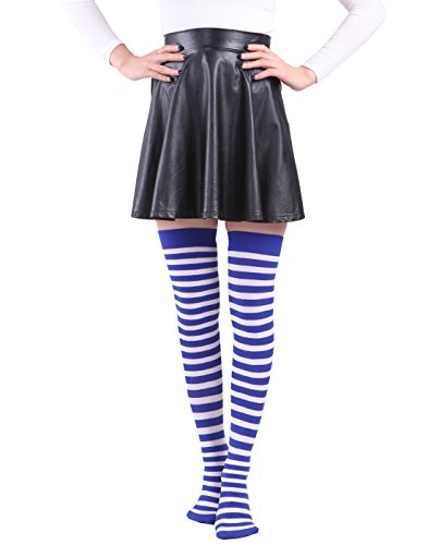 HDE Womens Striped Stockings Nylons