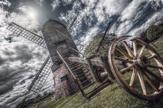 Windmill (Limited Edition on Canvas - 10x15 in.) by