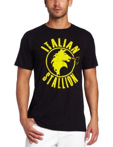 American Classics Men's Rocky Italian Stallions T-Shirt, Black, - Italian 100% T-shirts
