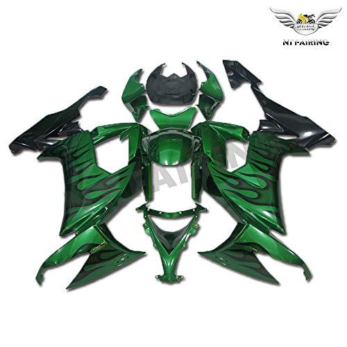 New Green Flames Fairing Fit for Kawasaki Ninja 2008 2009 2010 ZX10R ZX-10R Injection Mold ABS Plastics Aftermarket Bodywork Bodyframe 08 09 10