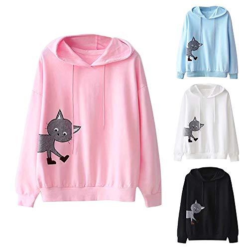 Maglione Sciolto Magliette Donna Tops Felpe Manica Casual Lungo Autunno Tumblr Tinta Inverno Per Rosa In Top Cotone Ragazza Unita Anmain Lunga Donne nqXSx5X