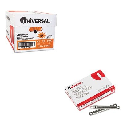 KITUNV21200UNV81001 - Value Kit - Universal Complete Two-Piece Paper File Fasteners (UNV81001) and Universal Copy Paper (UNV21200)