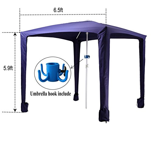 Ammsun 6.5ft x 6.5ft Canopy Outdoors Beach u0026 Sports Cabana Easy Setup and Take Down Large Shade Area More Elegant u0026 Classier than Beach Umbrella New ...  sc 1 st  Garden Outdoor Store & Ammsun 6.5ft x 6.5ft Canopy Outdoors Beach u0026 Sports Cabana Easy ...