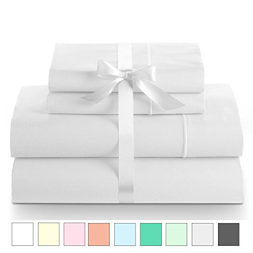 Linenwalas King Size Bed Sheet Set - 800 Thread Count Long Staple Natural Cotton Satin Weave for Soft and Silky Feel|Deep Pockets, Breathable Set of 4 (King, (King Size Bed Sheet Size)