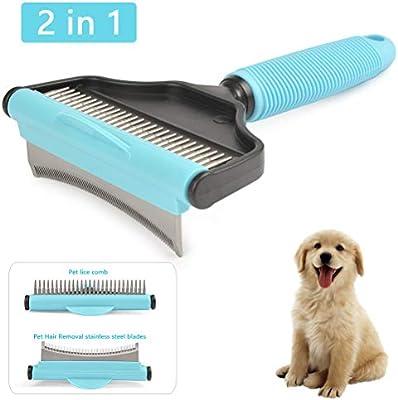 Amazon Com Buygoo Pet Dog Brush Effectively Pet Deshedding Brush Professional Pet Cat Dog Grooming Brush Reduces Shedding Up To 95 Best Dog Hair Brush For Small Large Dogs Cats