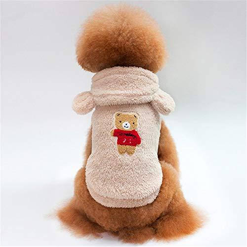Jdogayncat Pet Supplies, Teddy Bear, Small Dog, Bear Ears, Hooded Jacket, Dog Clothes, Autumn and Winter Apricot]()