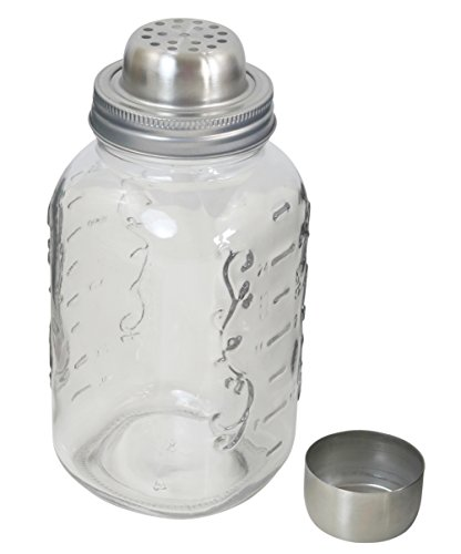 (Iconikal, Mason Jar Cocktail Shaker Lid With Measurent Lined Jar)