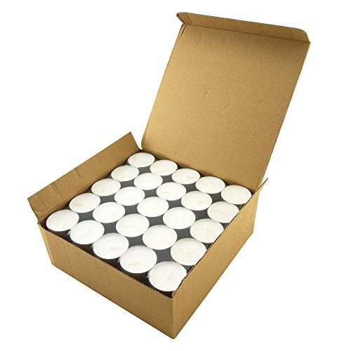 Tea Light Candles 6-7 Hour - Use for Floating Candle Centerpiece - 100 Pack