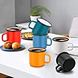 Enamel Camping Coffee Mug Set of 6, P&P CHEF Small