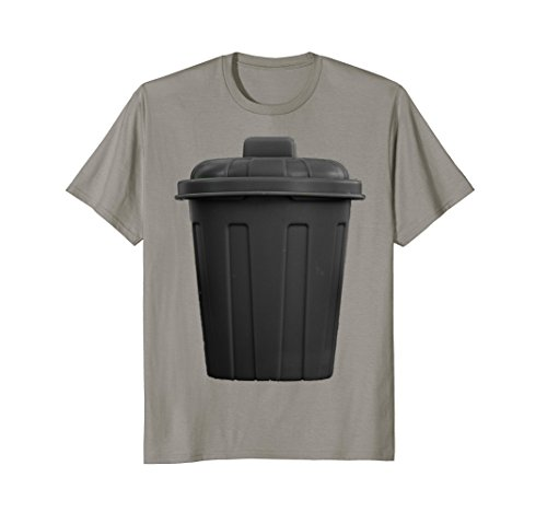 Mens Trash Can Funny Hilarious Halloween Costume T-Shirt XL Slate