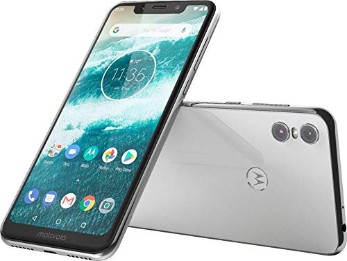 (Motorola Moto One - Android One - 64 GB - 13+2 MP Dual Rear Camera - Dual SIM Unlocked Smartphone (at&T/T-Mobile/MetroPCS/Cricket/H2O) - 5.9