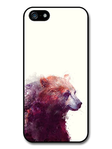 Bear Illustration on White Background, Beautiful Hipster coque pour iPhone 5 5S