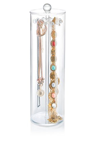 necklace holder - Acrylic jewelry organizer contains 12 hooks necklace organizer