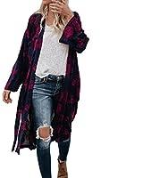 476d276c42 UONQD Women faded long casual hood dress collarless flannel price purple  burgundy maroon shirt yellow denim