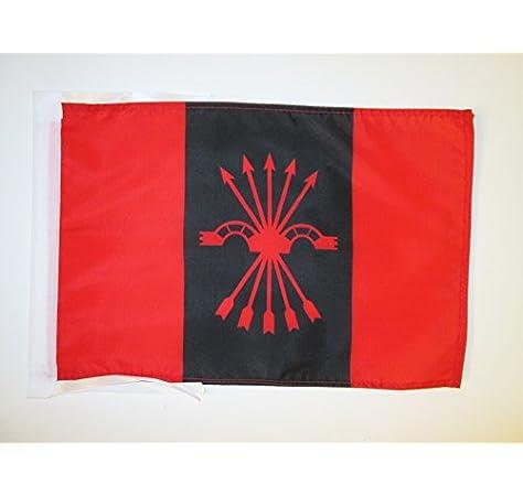 AZ FLAG Bandera de la FALANGE ESPAÑOLA DE Las JONS 45x30cm - BANDERINA del FALANGISMO 30 x 45 cm cordeles: Amazon.es: Hogar