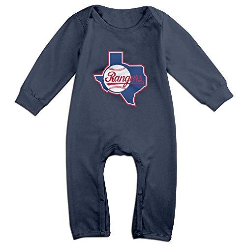 MoMo Texas Ranger Baseball KidsToddler Romper Jumpsuit 12 Months Navy -