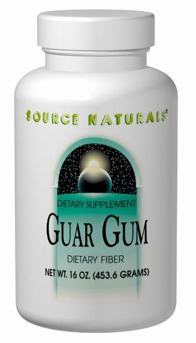 Source Naturals Guar Gum Powder Dietary Fiber, 16 Ounce (Pack of 2)