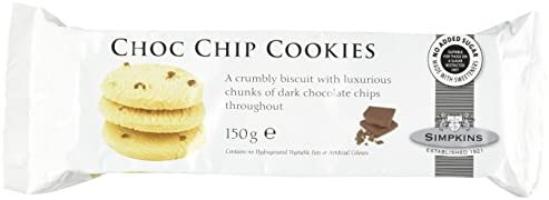 Simpkins No Added Sugar Chocolate Chip Cookies 150 G Pack Of 3
