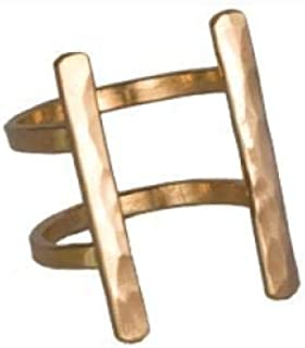 product image for Nashelle Double Bar Ring Gold-Fill Handmade for Women