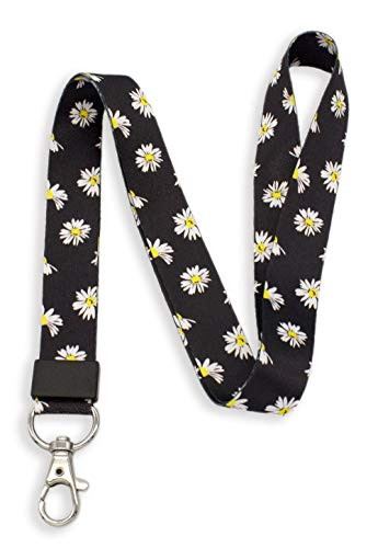 - SENLLY Daisies Neck Lanyard Strap Premium Quality with Metal Clasp, for Id Badges, Card Holder, Keychain, Cell Mobile Phone, Lightweight Items etc