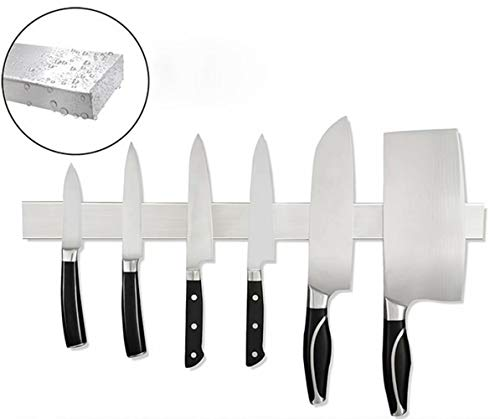 20 Inch Stainless Steel Magnetic Knife Strip with Multipurpose Use as Knife Holder, Knife Rack, Knife Bar, Kitchen Utensil Holder, Tool Holder, Screw-free to install