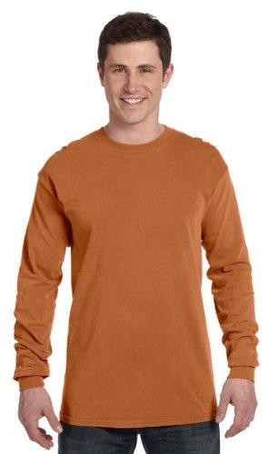 Komfort Färger Mens Ringspun Plagg-färgade Lång-muff T-skjorta (c6014) Xx-stora, Yam