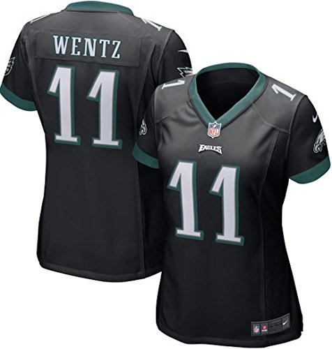 Womens Nfl Game Jersey - Carson Wentz Philadelphia Eagles Nike Women's Game Jersey - Black (X-Large)