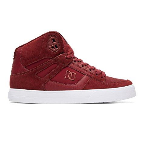 Dc Suede Sneakers - DC Shoes Pure High Top WC Shoe Men's Skateboarding 9 Burgundy