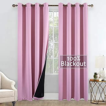 Amazon.com: YGO 84 inches Long Full Blackout Curtains Pair ...