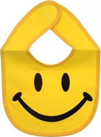 Yellow Smiley Face Baby Bib (Baby Smiley Face)