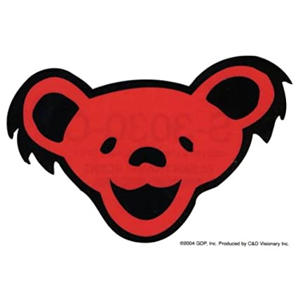 Old Glory Grateful Dead - Bear Head Clear Decal