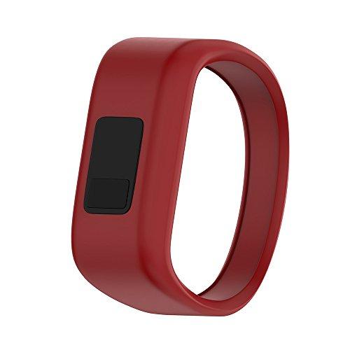 ANCOOL Compatible with Garmin Vivofit JR Bands, Soft Kids Wristbands Replacement for Vivofit JR/Vivofit JR2/Vivofit 3 Tracker (Red, Small)