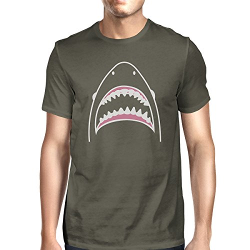 de Camiseta Shark una hombre para talla Dark corta 365 manga Shirt Printing Grey BTwEHnx4a